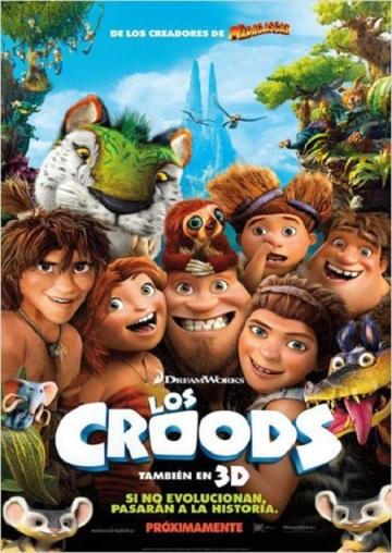 Los Croods Una aventura prehistórica cartel